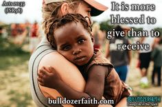 Give rather than receive