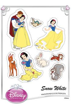 Print Snow White cut-outs