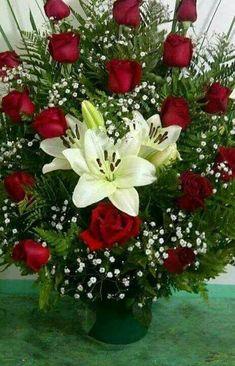 ❤️ Valentine Flower Arrangements, Funeral Floral Arrangements, Tropical Flower Arrangements, Creative Flower Arrangements, Church Flower Arrangements, Rose Arrangements, Beautiful Flower Arrangements, Beautiful Rose Flowers, Unique Flowers