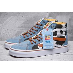 4b29bac2cfa91 Vans X Toy Story Woody Cow Blue Denim SK8 High Skate Shoe Brand New Vans