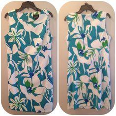NWOT TURQUOISE SHEATH DRESS Turquoise & White Sheath Dress NWOT Scarlett Dresses
