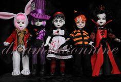 Living Dead Dolls: Alice in Wonderland VARIANTS - Complete 5 Doll Set #MezcoToyz #DollswithClothingAccessories