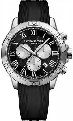 @raymondweil Watch Tango Mens #add-content #basel-17 #bezel-fixed #bracelet-strap-rubber #brand-raymond-weil #case-depth-11-9mm #case-material-steel #case-width-43mm #chronograph-yes #date-yes #delivery-timescale-call-us #dial-colour-black #gender-mens #l