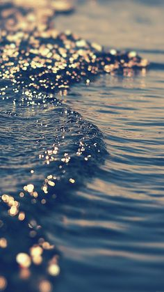 gold sea wave water sunset ocean nature iPhone 6 Plus Wallpapers - bokeh effect iPhone 6 Plus Wallpapers