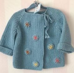 Best 11 Ravelry: Precious Baby Jacket by Mags Kandis – SkillOfKing. Knitting For Kids, Baby Knitting Patterns, Hand Knitting, Baby Vest, Baby Sweaters, Diy Clothes, Knit Crochet, Instagram, Kids Fashion