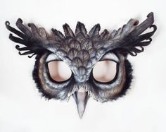 Reserved for Mochazirra Great Horned Owl Leather by LibertiniArts