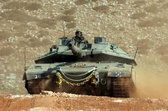 The Merkava  main battle tank used by the Israel Defense Forces.