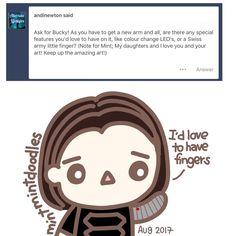 #AskBucky from my tumblr #buckybarnes #wintersoldier #mintmintdoodles