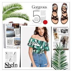 """shein contest"" by mayabee88 ❤ liked on Polyvore featuring Della, Garance Doré and Nika"