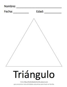 Figuras geométricas básicas para colorear: Triángulo