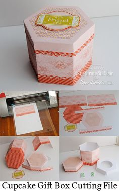 Cupcake box tutorial (video, as well) by Paper Garden Projects