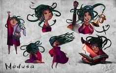 """Medusa"" by Yun Chui on ArtStation"