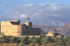 """""""Jabrin Fort is overlooked by Jabal Shams"""" Oman: The Bradt Guide www.bradtguides.com"""
