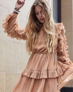 "1,028 Likes, 14 Comments - THE ICONIC (@theiconicau) on Instagram: ""@pamelakatz is ethereal in the Stevie May Watson Frill Mini Dress.  Shop via link in bio.…"""