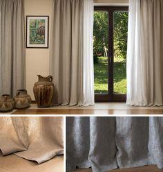 LNIANE ZASŁONY 100% len Curtains, House, Ideas, Home Decor, Blinds, Decoration Home, Home, Room Decor, Haus
