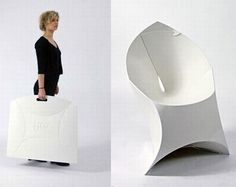Flux Chair: Goes from flat to folded in seconds. http://www.fluxchairs.com/  #Chair