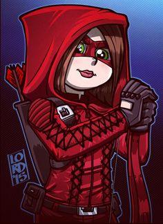 """""""Lady in Red"""" @Willaaaah @ArrowProdOffice @ARROWwriters @CW_Arrow Hoping to see Thea suited up next week!!"""