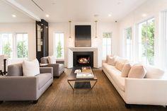 Luxe meubels in woonkamer ontwerp met open haard | woonkamer ideeën ...