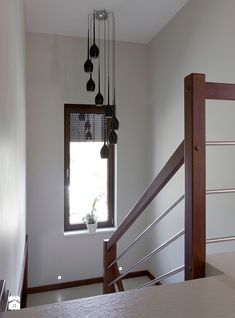 Pin on Schody Staircase Wall Decor, Stair Decor, Modern Staircase, Balcony Railing Design, Home Stairs Design, House Design, Bathroom Sink Decor, Bathroom Interior Design, Interior Decorating