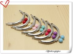 7 color 8cm half round Silver purse frames Bag frames (purse frame wholesale) AB77-AB83. $18.90, via Etsy.
