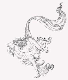 Kirin Lineart by *Novawuff on deviantART