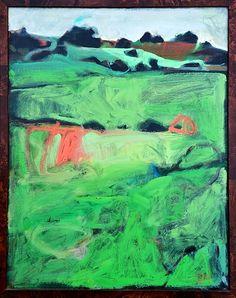 "Sharon Paster Hillside Oil on canvas, framed. 23"" x 29"" Kentfield, California New."
