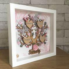 A personal favourite from my Etsy shop https://www.etsy.com/uk/listing/499364024/personalised-family-tree-frame-wooden