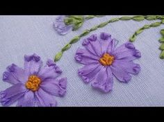 Watch How She Does This Lovely Ribbon Embroidery-So Easy! - DIY Joy