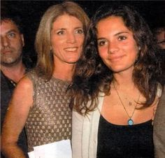 Caroline Kennedy and her daughter....