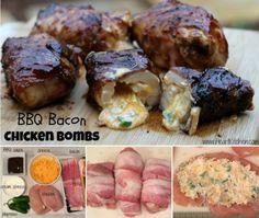 BBQ Bacon Chicken Bombs