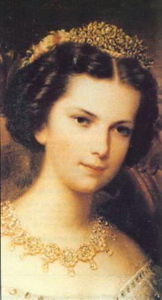 "Elisabeth ""Sissi"" (24 Dec 1837-10 Sep 1898) Bavaria-Austria-Hungary was the future wife of Emperor Franz Joseph I"