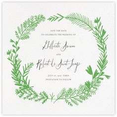 Miss Mimi Margeaux II (Save the Date) - Green - Paperless Post - flat printing 115