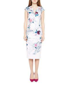 b76a73aecb9e3 Ted Baker Sophiah Acanthus Scroll Print Dress Ted Baker Fashion