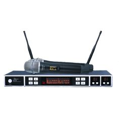 Idolpro UHF-528 Professional Dual Wireless Microphone System, Grey