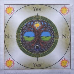 Tree of Life Scrying Mat, wicca, Gift, Pagan, divination, dowsing.