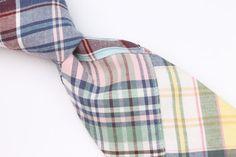 J. CREW Multicolor Quilted Patch Design mens Cotton Tie #JCrew #Tie