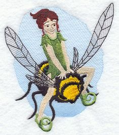 "Fairy Beatrix	Product ID:	B1169 Size:	4.88""(w) x 6.04""(h) (124 x 153.4 mm)	Color Changes:	25 Stitches:	26937	Colors Used:	12"