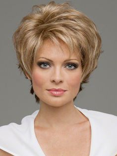 Micki by Envy is a super short edgy shag cut.  Razored ends all around give this wig spunky texture and style.  A very cool, easy to wear style with a hint of an edge.