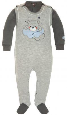 Dětský set dupačky s medvídkem a tričko 50 hnedá/sivá Sweatshirts, Sweaters, Baby, Fashion, Moda, Fashion Styles, Trainers, Sweater, Sweatshirt