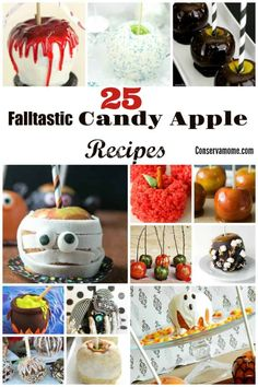 Who can resist the delectable taste of Candy Apples? Here is a fun round up of 25 Falltastic Candy Apple recipes sure to be a huge hit! Delicious and so fun to make you won't know where to start! #candyapplerecipe Apple Desserts, Apple Recipes, Fun Desserts, Fall Recipes, Holiday Recipes, Delicious Desserts, Best Dessert Recipes, Snack Recipes, Candy Recipes