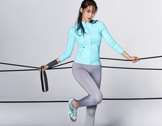 Shin Min Ah models new items from sportswear brand 'Descente' with her lean, healthy body | allkpop.com