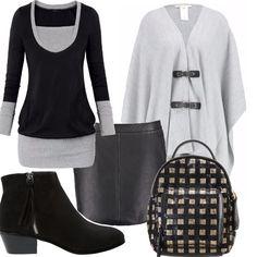 Una calda mantella  outfit donna Basic per tutti i giorni  ce9a6d88f7af
