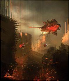 "brighter-suns: "" Second Drag by Sparth "" Concept Ships, Concept Art, Sci Fi Comics, Futuristic City, Matte Painting, Science Fiction Art, Fantasy Landscape, Environmental Art, Sci Fi Fantasy"