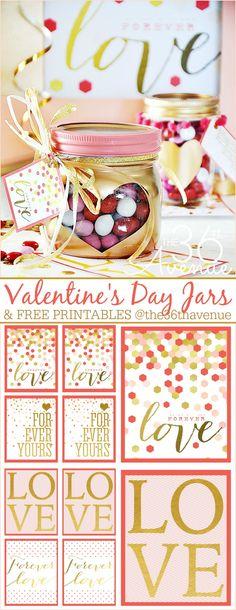 Valentines Day Gift Idea - Super cute heart jars a - Valentinstag Dekoration My Funny Valentine, Valentines Day Party, Valentine Day Love, Valentine Day Crafts, Valentine Decorations, Holiday Crafts, Holiday Fun, Diy Spring, Happy Hearts Day