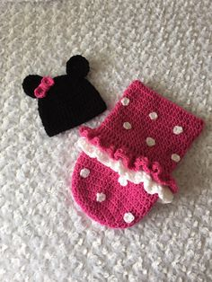 A personal favorite from my Etsy shop https://www.etsy.com/listing/263341039/handmade-crocheted-baby-minnie-mouse