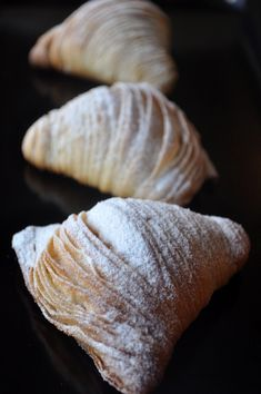 Italian pastry Recipes - Sfogliatelle… an Italian tail, three ways. Dessert Cannoli, Bon Dessert, Italian Pastries, Italian Dishes, French Pastries, Italian Foods, Authentic Italian Recipes, Pastry Recipes, Baking Recipes