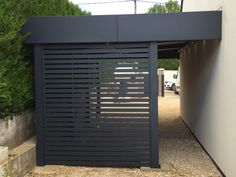 # cochera-alu-dijon-nord carport-alu-dijon-nord Though old around notion, this pergola continues to House, House Front, Outdoor Rooms, Getaway Cabins, Carport Designs, Modern, Back Gardens, Carport Garage, Exterior