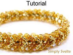 Simply Svelte Flat Spiral Stitch Bracelet Beading Pattern Tutorial