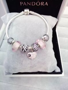 50% OFF!!! $199 Pandora Charm Bracelet Pink. Hot Sale!!! SKU: CB01578 - PANDORA Bracelet Ideas