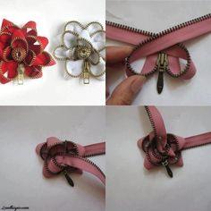 Zipper Flower Guide - DIY Ideas 4 Home